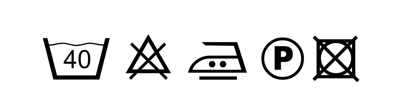 znaki konserwacji_sznurki bawełniane